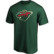 NHL Men's Minnesota Wild Primary Logo Green T-Shirt