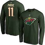 NHL Men's Minnesota Wild Zach Parise #11 Green Long Sleeve Player Shirt