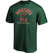 NHL Men's Minnesota Wild Arc Stack Green T-Shirt