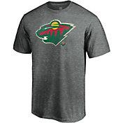 NHL Men's Minnesota Wild Slash Dash Grey T-Shirt