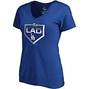 Majestic Women's Los Angeles Dodgers 2019 MLB Postseason V-Neck Shirt