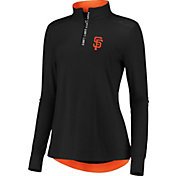 Fanatics Women's San Francisco Giants Black Iconic Long Sleeve Quarter-Zip Shirt