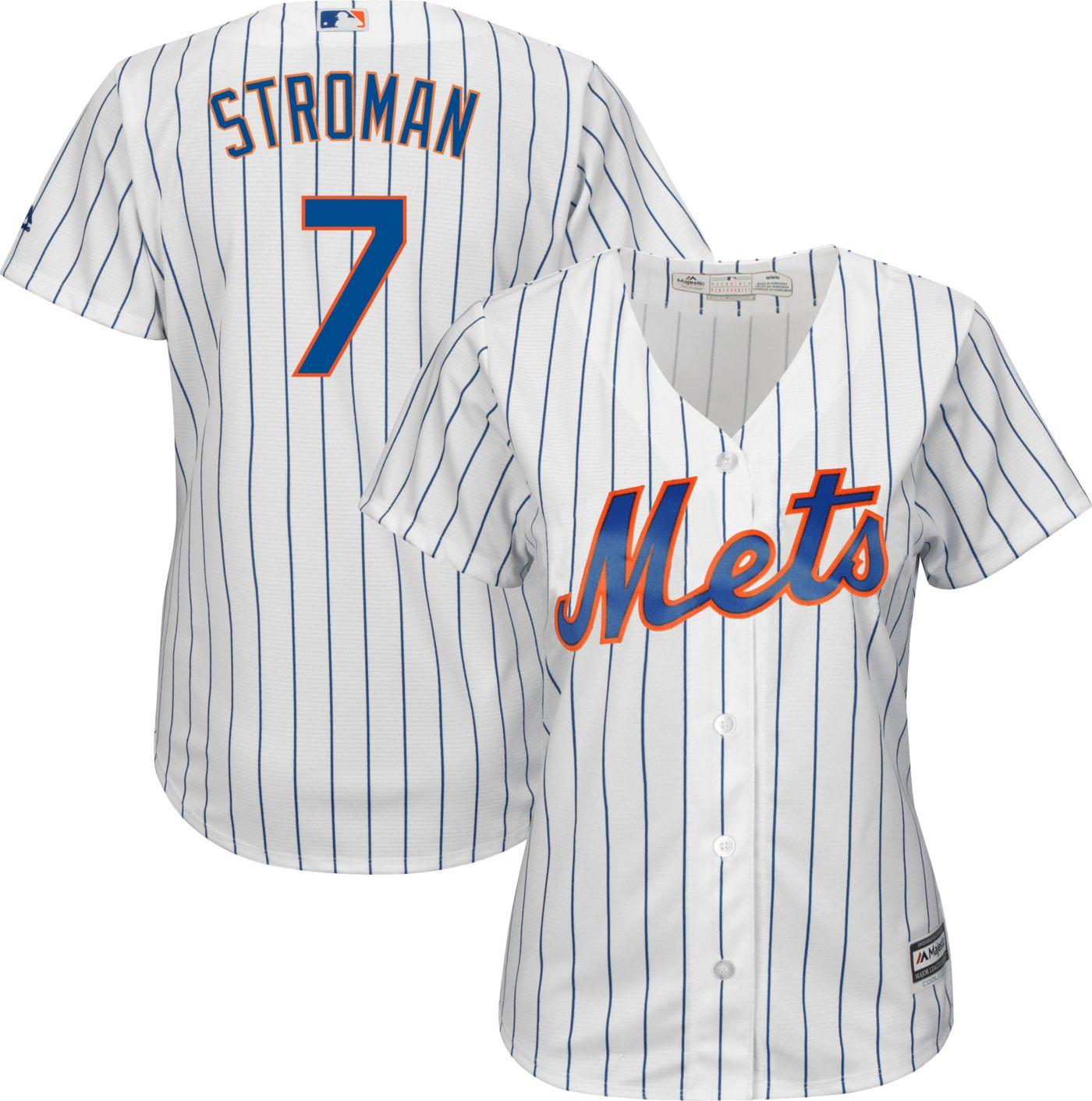 Majestic Women's Replica New York Mets Marcus Stroman #7 Cool Base Home White Jersey