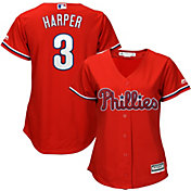 Majestic Women's Replica Philadelphia Phillies Bryce Harper #3 Cool Base Alternate Red Jersey