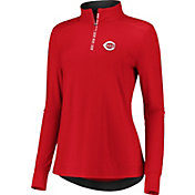 Fanatics Women's Cincinnati Reds Red Iconic Long Sleeve Quarter-Zip Shirt