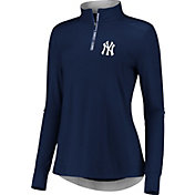 Fanatics Women's New York Yankees Navy Iconic Long Sleeve Quarter-Zip Shirt