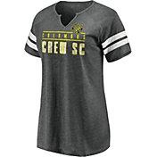 MLS Women's Columbus Crew Grey Notch Neck T-Shirt