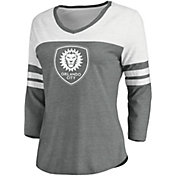 MLS Women's Orlando City Grey Three-Quarter Sleeve T-Shirt