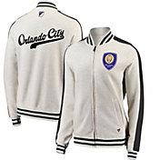 MLS Women's Orlando City Cross White Full-Zip Jacket