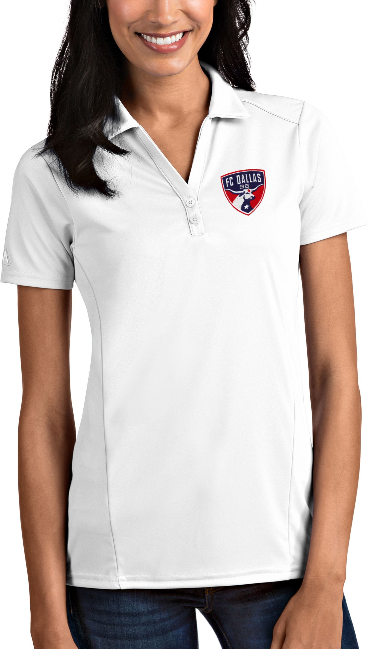 Antigua Women's FC Dallas Tribute White Polo