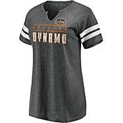 MLS Women's Houston Dynamo Grey Notch Neck T-Shirt