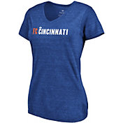 MLS Women's FC Cincinnati Wordmark Tri-Blend Royal V-Neck T-Shirt