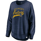 MLS Women's Los Angeles Galaxy Tri-Blend Jersey Navy Crew Sweatshirt