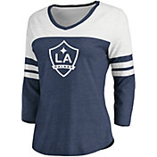 MLS Women's Los Angeles Galaxy Navy Three-Quarter Sleeve T-Shirt