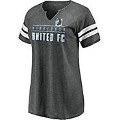 MLS Women's Minnesota United FC Grey Notch Neck T-Shirt