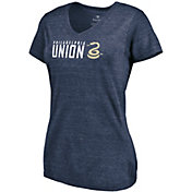 MLS Women's Philadelphia Union Wordmark Tri-Blend Navy V-Neck T-Shirt