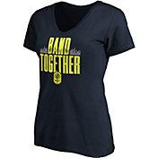 MLS Women's Nashville SC Band Together Navy V-Neck T-Shirt