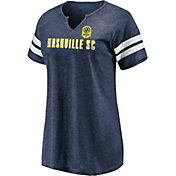 MLS Women's Nashville SC Navy Notch Neck T-Shirt