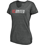 MLS Women's D.C. United Wordmark Tri-Blend Black V-Neck T-Shirt