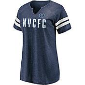 MLS Women's New York City FC Navy Notch Neck T-Shirt