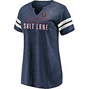 MLS Women's Real Salt Lake Navy Notch Neck T-Shirt