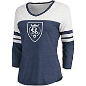 MLS Women's Real Salt Lake Navy Three-Quarter Sleeve T-Shirt