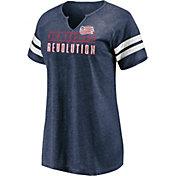 MLS Women's New England Revolution Navy Notch Neck T-Shirt
