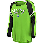 MLS Women's Seattle Sounders Blocked Green Long Sleeve Shirt