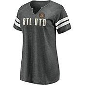 MLS Women's Atlanta United Grey Notch Neck T-Shirt