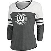 MLS Women's Atlanta United Grey Three-Quarter Sleeve T-Shirt