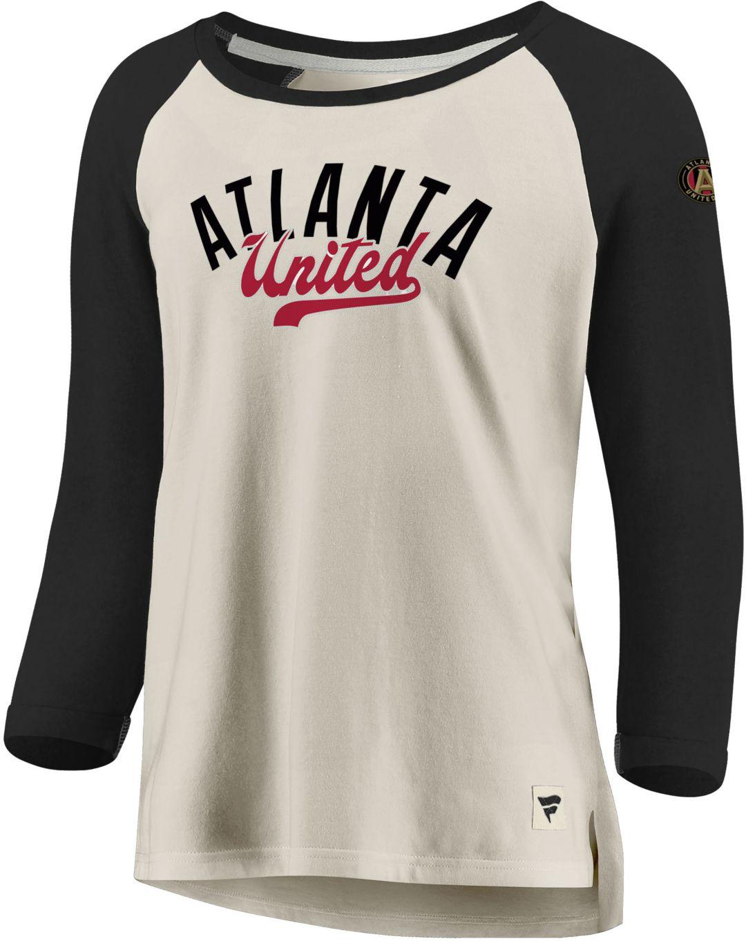 promo code 03587 daa17 MLS Women's Atlanta United Rolled White Three-Quarter Shirt
