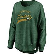 MLS Women's Portland Timbers Tri-Blend Jersey Green Crew Sweatshirt
