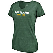 MLS Women's Portland Timbers Wordmark Tri-Blend Green V-Neck T-Shirt