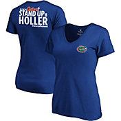 NCAA Women's Florida Gators Blue 'Stand Up' V-Neck T-Shirt