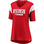 NCAA Women's Wisconsin Badgers Red Iconic Mesh V-Neck T-Shirt