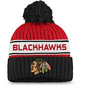 NHL Women's Chicago Blackhawks Authentic Pro Red Pom Knit Beanie