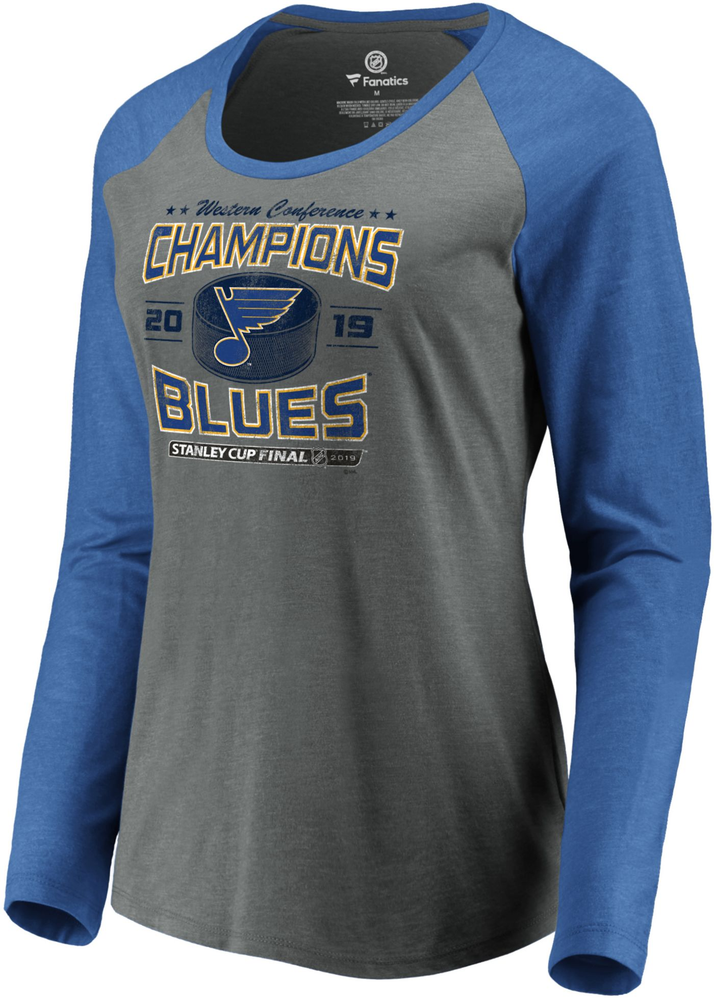 NHL Women's 2019 NHL Western Conference Champions St. Louis Blues Raglan Long Sleeve Shirt