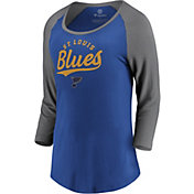 NHL Women's St. Louis Blues Decide Royal 3/4 Sleeve Shirt