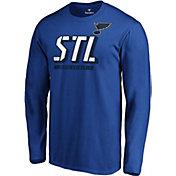 NHL Men's St. Louis Blues Tricode Logo Royal Long Sleeve Shirt