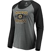 NHL Women's 2019 NHL Eastern Conference Champions Boston Bruins Raglan Long Sleeve Shirt