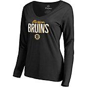 NHL Women's Boston Bruins Nostalgia Black Long Sleeve Shirt