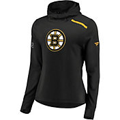 NHL Women's Boston Bruins Authentic Pro Rinkside Black Pullover Hoodie