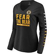 NHL Women's Boston Bruins Slogan Black Long Sleeve Shirt
