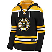 NHL Women's Boston Bruins Lace Up Black Pullover Hoodie