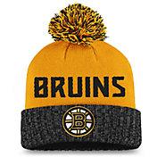 NHL Women's Boston Bruins Black Pom Knit Beanie