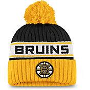 NHL Women's Boston Bruins Authentic Pro Black Pom Knit Beanie