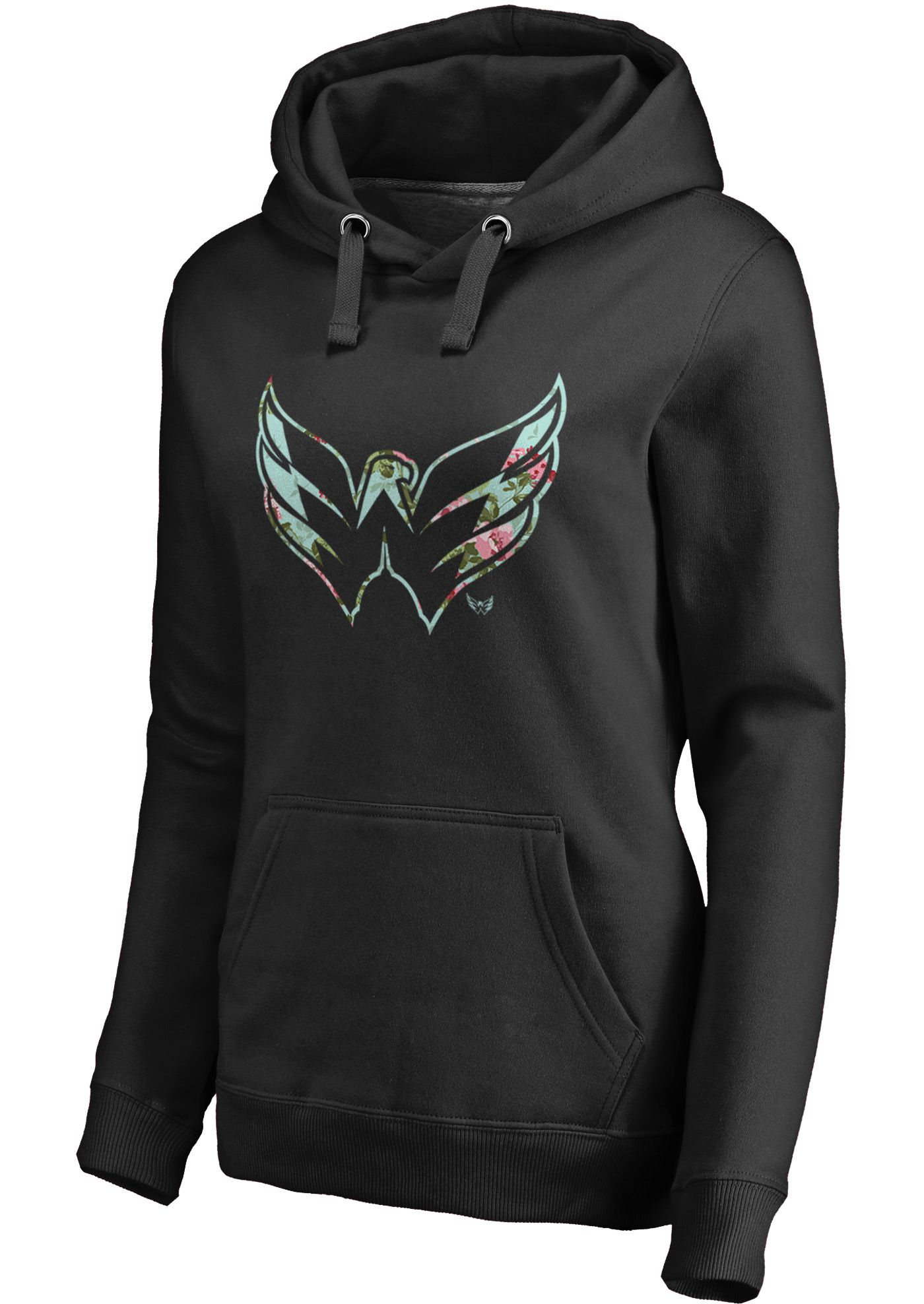 NHL Women's Washington Capitals Lovely Black Pullover Hoodie