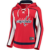 NHL Women's Washington Capitals Lace Up Navy Pullover Hoodie