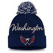 NHL Women's Washington Capitals Exclusive Navy Pom Knit Beanie