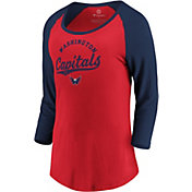 NHL Women's Washington Capitals Decide Red 3/4 Sleeve Shirt